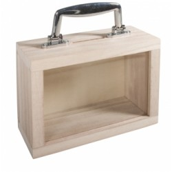 Caisse en bois avec fenêtre