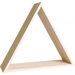 Etagère triangle en bois