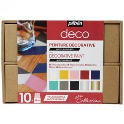 Boite de peinture décorative
