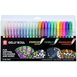 24 stylos gel Gelly roll